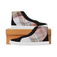 plaid Capricorn High Top Casual Shoes for Men