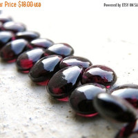 51% Off Garnet Briolette AAA Maroon Smooth Teardrop Pear 10mm 12 beads