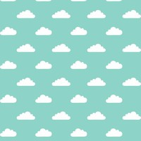 mod baby » tiny clouds on mint fabric - misstiina - Spoonflower