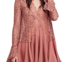 Free People New Tell Tale Lace Minidress | Nordstrom