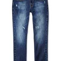 Slim Fit- Distressed Medium Wash