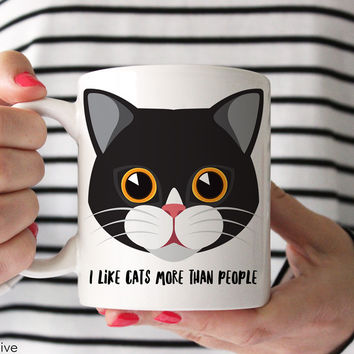 Cat Mug - I Like Cats More Than People - A0003