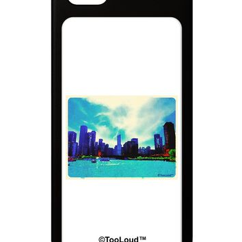 Chicago Skyline Watercolor iPhone 5 / 5S Grip Case  by TooLoud