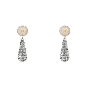 Gucci Crystal studded drop pendant earrings