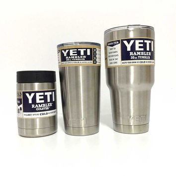 1pcs12oz Yeti Tumbler Coffee Cup With Handle and Lid 20oz Rambler Colored Yeti  Cups Stainless Steel Travel Bottle Cup 30Oz Mugs