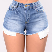 Step Up Shorts - Light Blue