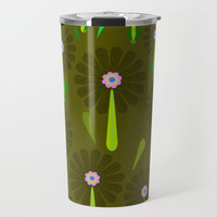 zappwaits Flower Travel Mug by netzauge