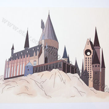 School of Witchcraft and Wizardry Wall Art