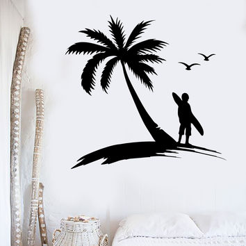 Wall Sticker Vinyl Decal Extreme Surfing Water Sports Beach Palma (ig1886)