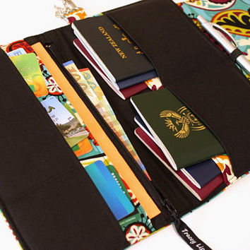 Family Passport Wallet - Family Travel Wallet - Large Passport Holder - Large Passport Wallet - Gift for Traveler - Large Travel Wallet