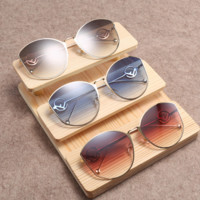 FENDI 2018 new round big box female models fashion wild polarized sunglasses