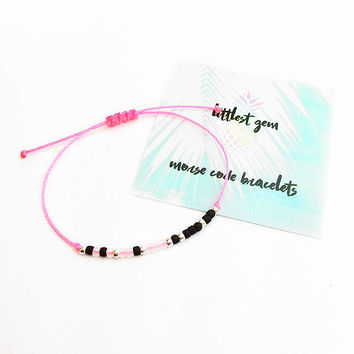 1 Word Custom Morse Code Bracelet - Personalized Bracelet - Friendship Bracelet - Best Friend Gift - Best Friend Bracelet - Birthday Gift