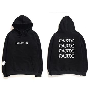 New Assc Club Brand Hooded Sweatshirts Men Women Paranoid Letter Print Hoodies Men Kanye West Pablo Hooded Anti Social Hoodie