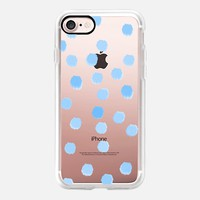 Sky Blue Dots - Transparent/Clear Background iPhone 7 Case by Lisa Argyropoulos | Casetify
