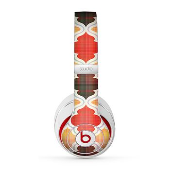 The Gold & Red Abstract Seamless Pattern V5 Skin for the Beats by Dre Studio (2013+ Version) Headphones