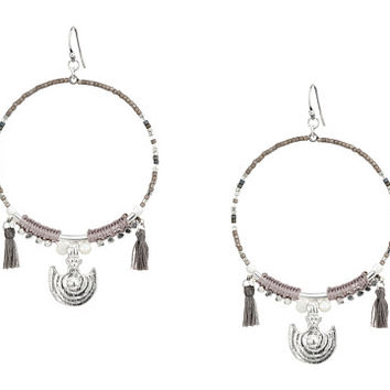 Chan Luu Beaded Hoop Statement Earrings
