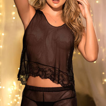 Relaxed Romance Cami Set, black cami set - Yandy.com