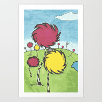Lorax Trees Art Print by kaseymargaret