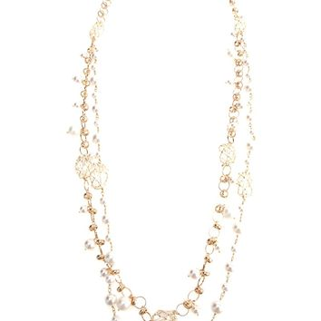 Rosantica Crystal Pearl Necklace