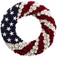 Patriotic Wood Curl Wreath