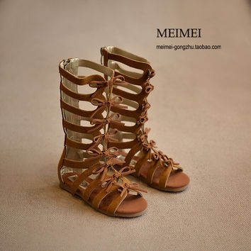 2018 summer boots High-top fashion Roman girls sandals kids gladiator sandals toddler baby sandals girls high quality shoes