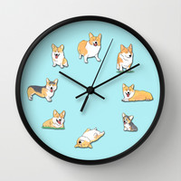 Corgi Wall Clock by Okayleigh