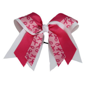 In Stock Extra Large Breast Cancer Awareness Triple Layer Bow
