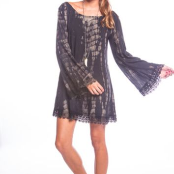Tiare Hawaii Moonlight Dress Black/Cream Sabia