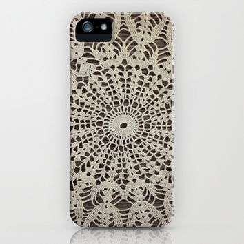 Vintage Crocheted Doily iPhone & iPod Case by Tammy Franck