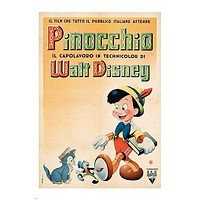WALT DISNEY'S PINOCCHO vintage movie poster 1940 RARE NEW 24X36 collectors
