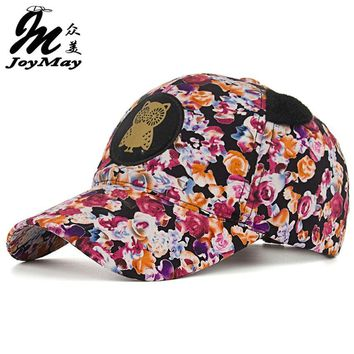 2016 New Arrival Top quality fashion Women cap Colorful Cotton OWL flower Baseball Cap snapback Adjustable Sunhat B342
