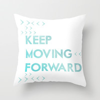 keep moving forward.. meet the robinsons disney movie quote Throw Pillow by studiomarshallarts