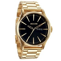 Men's Nixon The Sentry SS Watch in All Gold/ Black