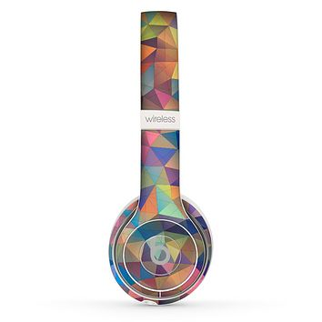 The Colorful Vibrant Triangle Connect Pattern Skin Set for the Beats by Dre Solo 2 Wireless Headphones
