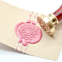Snowflake B20 Gold Plated Wax Seal Stamp x 1
