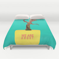 We Are Groot - Guardians of the Galaxy Duvet Cover by Amanda Corbett