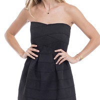 She Means Business Strapless Fit and Flare Dress