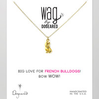 14k Vermeil French Bulldog Necklace - Dogeared - Gold (14k )