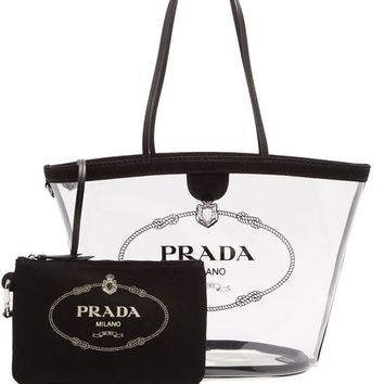 Logo-print clear PVC tote | Prada | MATCHESFASHION.COM US