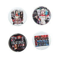 Suicide Squad Logos Pin Set
