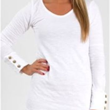 Spy-C Button Cuff Long Sleeve Shirt for Women 18533 Other Colors Available