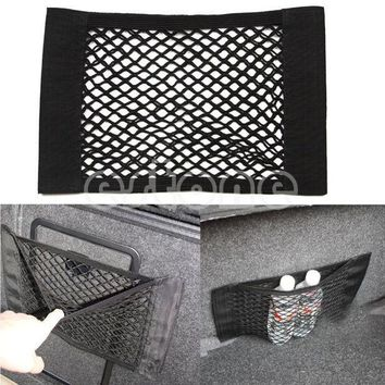 Free Shipping 1pc Car Back Rear Trunk Seat Elastic String Net Mesh Storage Bag Pocket Cage