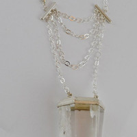 "Large ""Fortune Teller"" Clear Quartz Point Necklace"