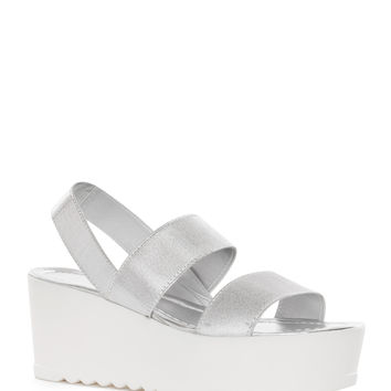 Ginger Spice Platform Sandals in Silver