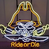 Motorcycle Neon Sign Ride Or Die
