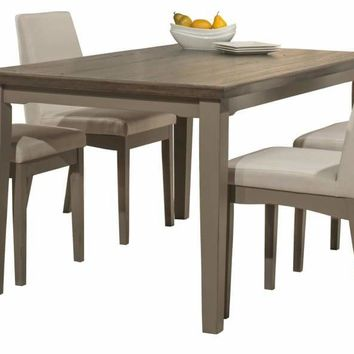 Clarion Five Piece Rectangle Dining Set with Upholstered Chairs - Distressed Gray