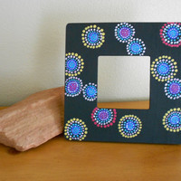 Painted Frame Colorful Dots by Acires on Etsy