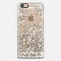 LUXURY MANDALA IN SILVER - CRYSTAL CLEAR PHONE CASE iPhone 6 case by Nika Martinez | Casetify