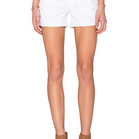 Croxley Mid Thigh Short in White 2