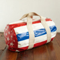 Vintage Patriotic Vinyl Duffle Bag at Free People Clothing Boutique